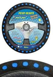 Potah volantu SOFT, modrý Compass