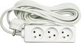 Kabel prodlužovací 3 m 4 zásuvky typ E