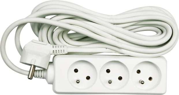 Kabel prodlužovací 3 m 4 zásuvky typ E Vorel