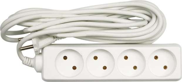 Kabel prodlužovací 5 m 4 zásuvky typ C Vorel