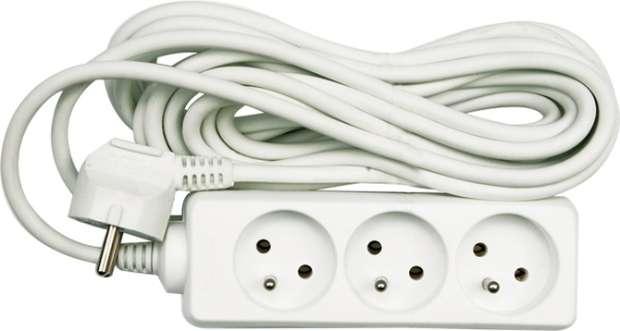 Kabel prodlužovací 5 m 4 zásuvky typ E Vorel