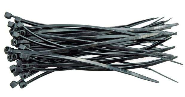 Páska stahovací 150 x 2,5 mm 100 ks černá Vorel