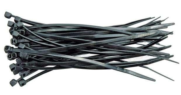 Páska stahovací 200 x 2,5 mm 100 ks černá Vorel