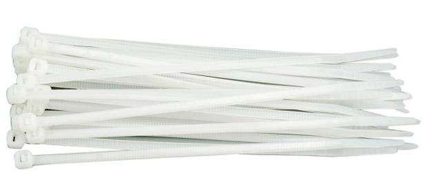 Páska stahovací 430 x 4,8 mm 100 ks bílá Vorel