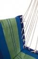 Houpací síť k sezení 95x50cm modro-zelená Cattara