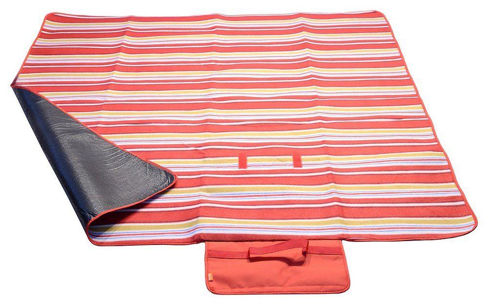 Pikniková deka FLEECE 150x135cm červená Cattara