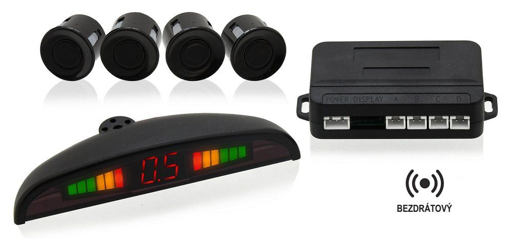 Parkovací asistent 4 senzory, LED display, bezdrátový