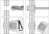 Nýtovačka ruční 280 mm otočná Vorel
