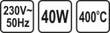 Pájka odporová 40 W 5 mm POWER UP Vorel