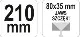Kleště tvarovací rovné 210 mm Yato