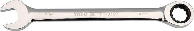 Klíč očkoplochý ráčnový 18 mm Yato