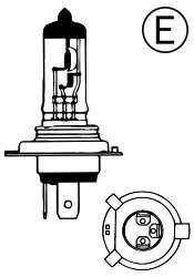 Žárovka 24V H4 75/70W P43t Compass