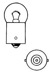 Žárovka 12V T2W 2W Ba9s box Compass