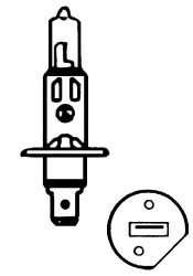 Žárovka 24V H1 70W P14,5s Compass