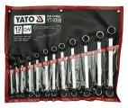 Sada klíčů očkových 12ks 6-32 mm ohnuté Yato