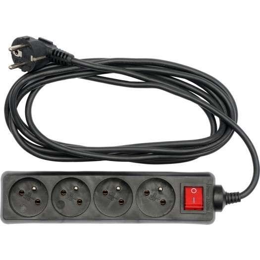 Kabel prodlužovací 5 m vypínač 4 zásuvky Vorel
