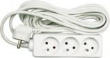 Kabel prodlužovací 5 m 3 zásuvky typ E