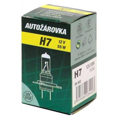 Žárovka 12V H7 55W PX26D box GREEN Compass