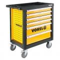 Skříňka dílenská pojízdná s nářadím (177ks) 6 zásuvek Vorel