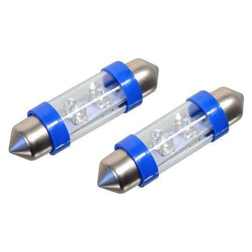 Žárovka 4LED 12V suf. SV8.5 38mm modrá 2ks Compass