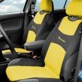 Potah sedadla TRIKO přední 2ks žlutý Compass