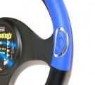 Potah volantu RALLY modrý Compass