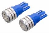 Žárovka 1SUPER LED 12V T10 modrá 2ks Compass
