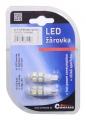 Žárovka 9 SUPER LED 12V T10 bílá 2ks Compass
