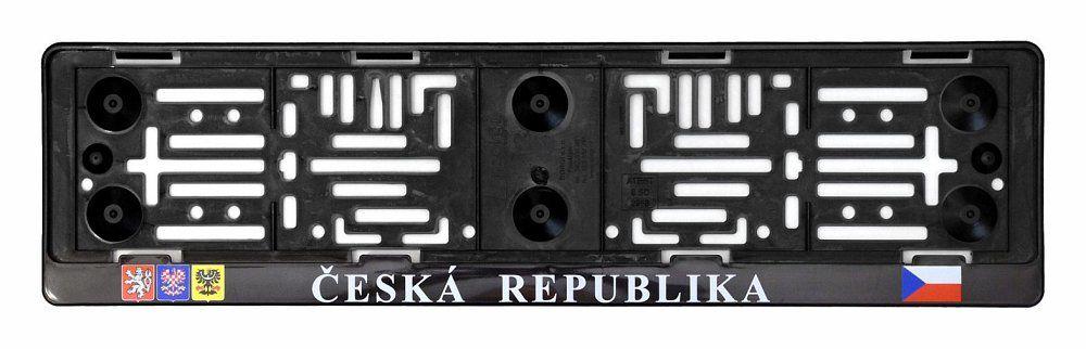 Podložka pod SPZ s nápisem ČR a erby Compass