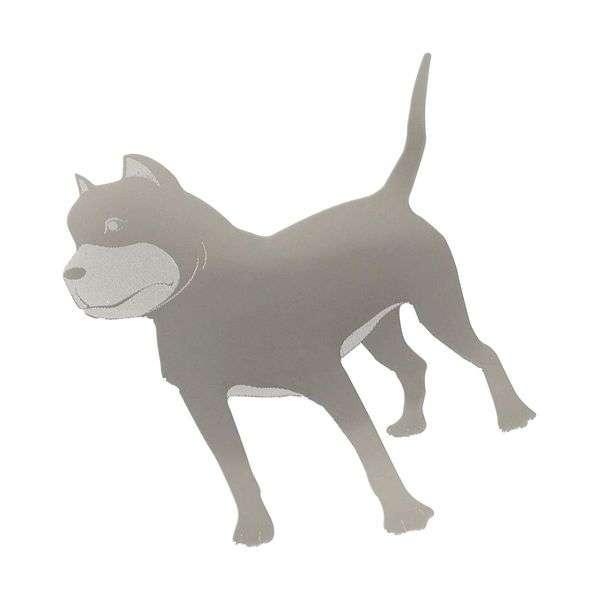 Znak DOG samolepící METAL velký Compass