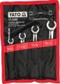Sada klíčů prstencových 4ks 8-17 mm polootevřené Yato