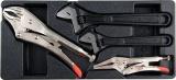 Vložka do zásuvky - 2x klíč nastavitelný 200/250mm, 2x kleště samosvorné 250/125mm