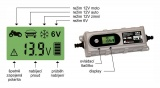 Nabíječka mikroprocesor 3,8Amp 6/12V PB/GEL LCD display Compass