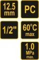 """Regulátor tlaku vzduchu 1/2"""", 0-1MPa, s filtrem a přimazáváním Vorel"""