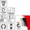 Vrtačka elektrická 550 W Yato
