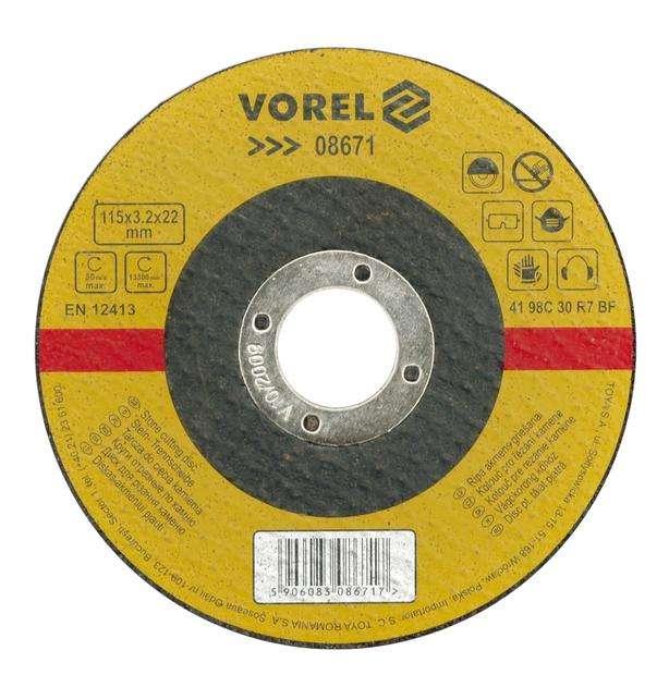 Kotouč na kámen 125 x 22 x 3,2 mm vypouklý Vorel