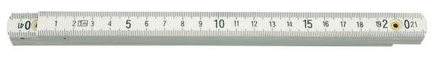 Metr skládací 2 m plastový bílý Vorel