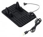 Držák telefonu micro USB s podložkou a kabelem Compass