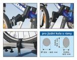 Nosič jízdního kola hliníkový PLATINUM,pro jízdní kola s rámy Compass