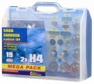 Žárovky 12V servisní box MEGA H4+H4+pojistky Compass