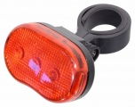 Cyklosvětlo zadní 3LED červené 3 funkce Compass