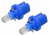 Žárovka 1LED 12V B8,5d modrá 2ks Compass