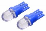 Žárovka 1LED 12V T10 modrá 2ks Compass