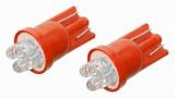 Žárovka 4LED 12V T10 červená 2ks Compass