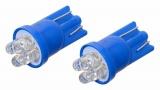Žárovka 4LED 12V T10 modrá 2ks Compass