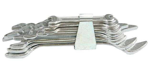 Sada klíčů plochých 10 ks 6 - 32 mm spona Vorel