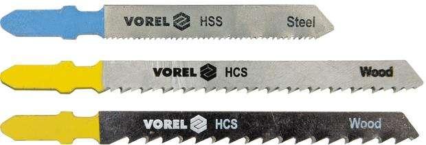 List do přímočaré pily 100/75 mm, 76/50 mm,dřevo,plast,železo 5ks Vorel