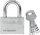Zámek visací stavební 60 mm 4 klíče Vorel