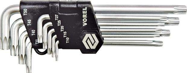 Sada klíčů TORX 9 ks Vorel